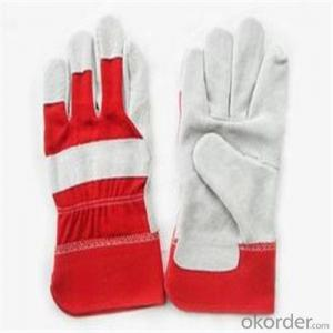 PVC Inner Split Double Palm Leather Work Glove with Good Price