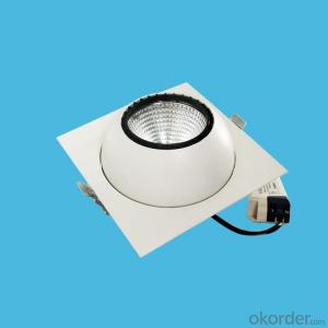 Square led cob ceiling spotlight 15W 20W for 3 years warranty