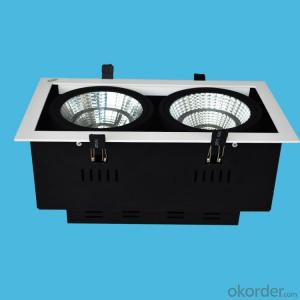 led cob grill dowmlight ar111 grill spotlight 20w/40w/60w for 3 years warranty