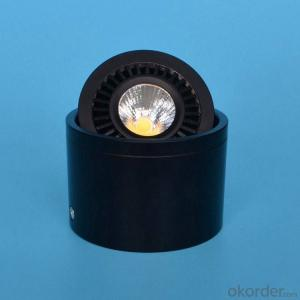 Adjustable round surface mounted led cob downlight 7W/10W 15W