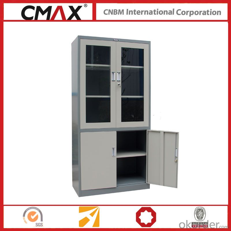 Filing Cabinet Full Height Cupboard with Glass Swing Door Cmax-Sc006