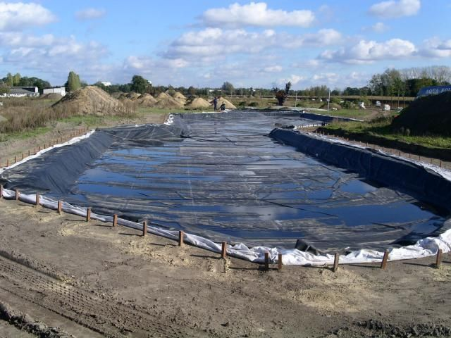 EPDM Rubber Coiled Waterproof Membrane for Manmade Pond