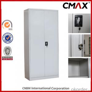 Filing Cabinet Full Height Cupboard Swing Door with 4 Shelves Cmax-Sc001