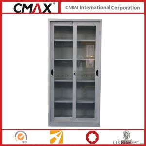 Filing Cabinet Full Height Cupboard with Glass Sliding Door Cmax-Sc003