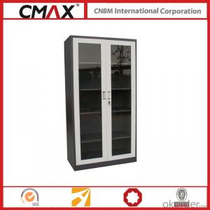 Filing Cabinet Full Height Cupboard with Glass Swing Door Cmax-Sc002