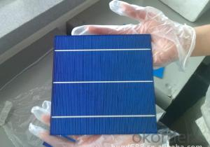 High Current Solar Cell 16.6% Polycrystalline Silicon Solar Cell Price