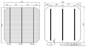 Mono Solar Cells156mm*156mm in Bulk Quantity Low Price Stock 18.4