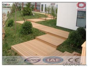 WPC Wooden Floor Tiles With Anti-slip Cheap Price Outside