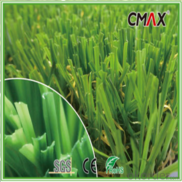 Landscaping Grass with PE straight /PP curled Monofilament yarn