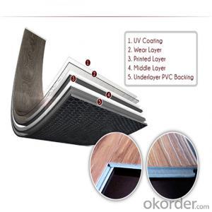 Click Pvc flooring Texture PVC Flooring Good Quality