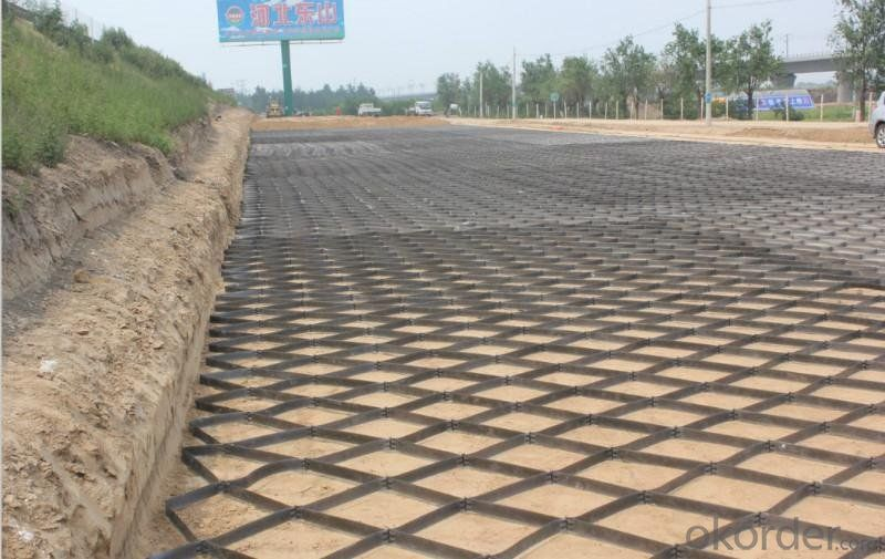 Manufactured PP Uniaxial Geogrid with High Strength