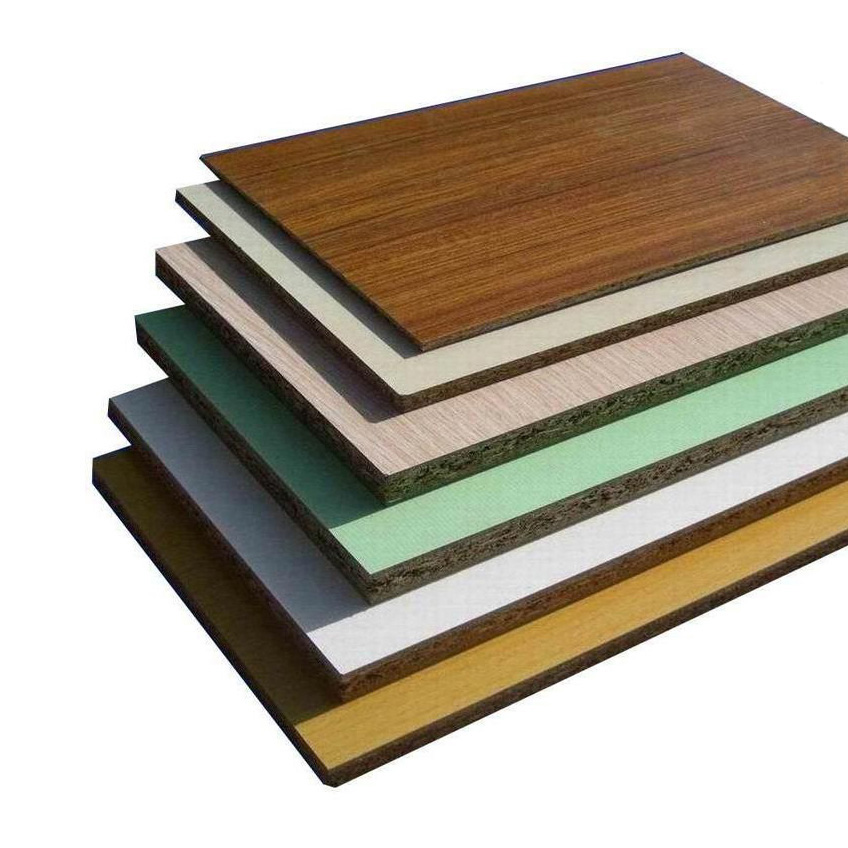 Buy melamine faced mdf board wood grain solid color