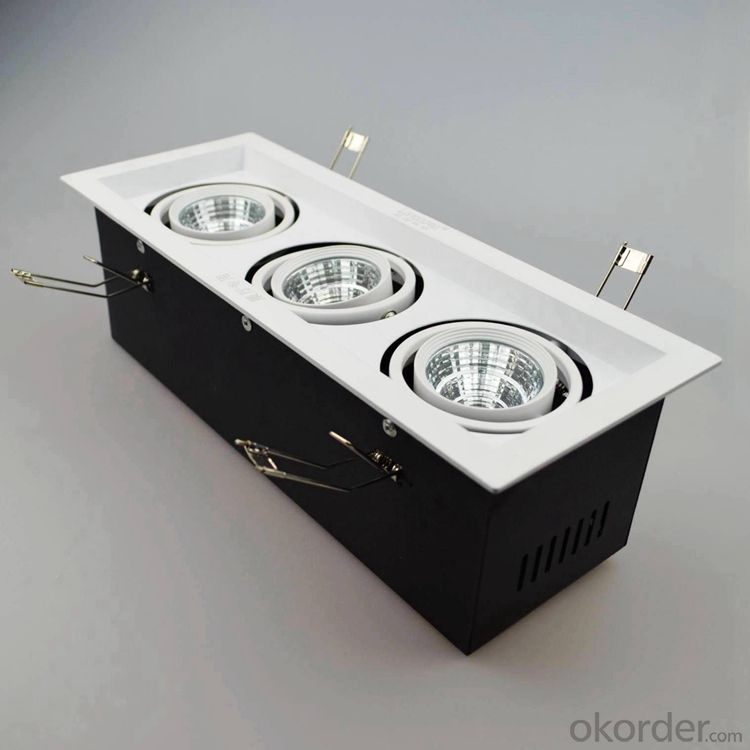 Led grille light dimmable 3pcs 30w cob led spotlight