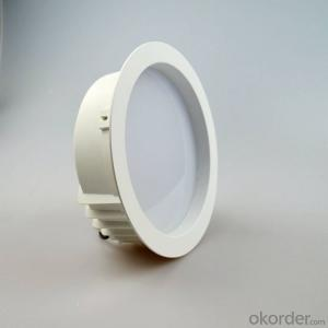 white plastic-aluminum housing led downlight 15W/18W/20W/24W AC 100-240V