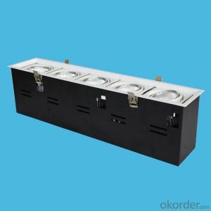 LED COB GRILLE LIGHT 5 headeds 5*10W warm white 3000K AC 100-240V