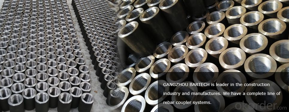 Steel Coupler Rebar Steel Tube Made in Jiangsu China in  High Quality