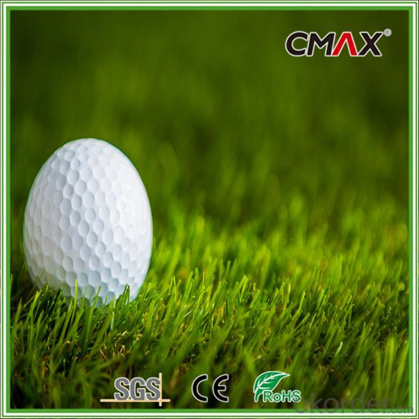 Nylon Monofilament Curly Yarn Golf Artificial Grass , 40 mm Height Golf Tee Turf