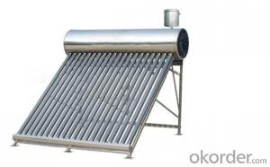 Freestanding Vacuum Tube Unpressurized Solar Hot Water Heater