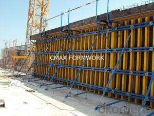 H20 Timber Beam Formwork for Straight Concrete Wall