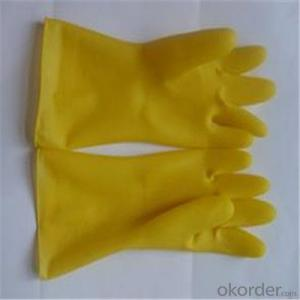 Latex Household Gloves Waterproof Long Gloves