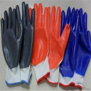 Seamless Knitted Nitrile Working Glove  Waterproof Long Gloves