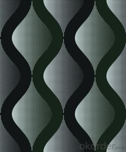 PVC Wallpaper Wavy Black & Cold Spray Glass Mirror Wall Tiles Mosaic Mural Wallpaper