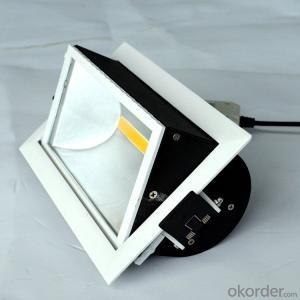 Indoor lighting square Led COB Downlight 30W