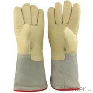 Low Temperature Resistant Leather Cryogenic Gloves Reinforced