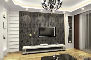 PVC Wallpaper White Grey Feature Texture TV 3d Faux Brick Wall Wallpaper