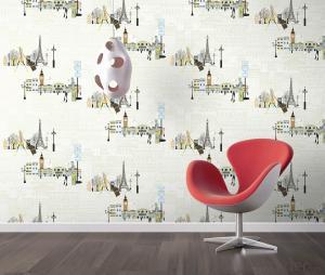 PVC Wallpaper 2016  Gift Kids Wallpaper Toilet Paper Sticker Peach Tree