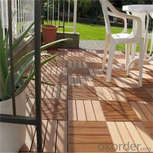 WPC Wooden Floor Tiles With Anti-slip Cheap Price Outside  China