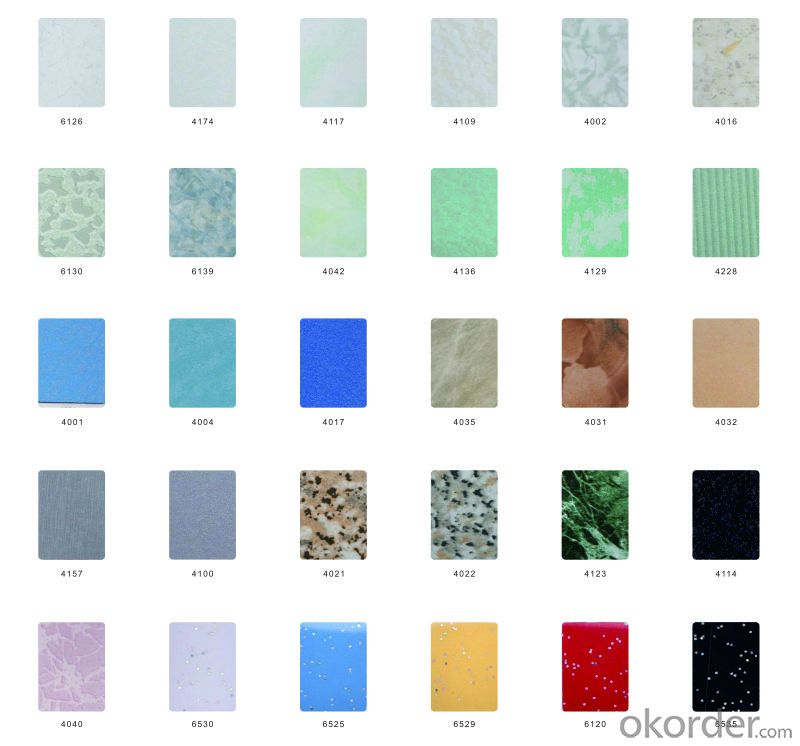 High-Pressure Laminates Decorative with Colorful Size