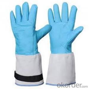 Low Temperature Resistant Leather Cryogenic Gloves with CE Certificate