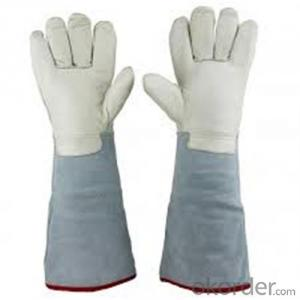 Low Temperature Resistant Leather Cryogenic Gloves Hear Resistance