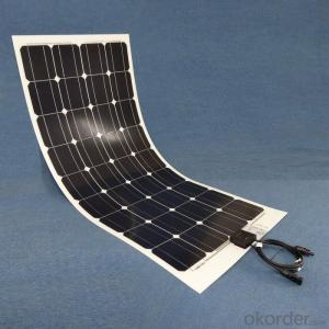 100W Mono Flexible Solar Power Panel Made in China