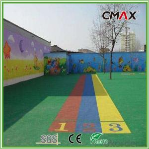 Environmental Friendly Colorful Artificial Grass for Kindergarten