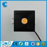 1w2w3w round & square shape led cob downlight for cabinet lighting