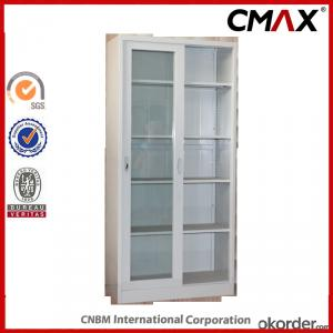 Sliding Door Office Filing Cupboard with Glass Door