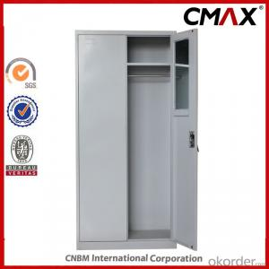 Swing Door Office Filing Cupboard with Safe inside