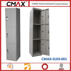 3 Doors Steel Locker with Customized Size & Combination for School Gym Cmax-SL03-001