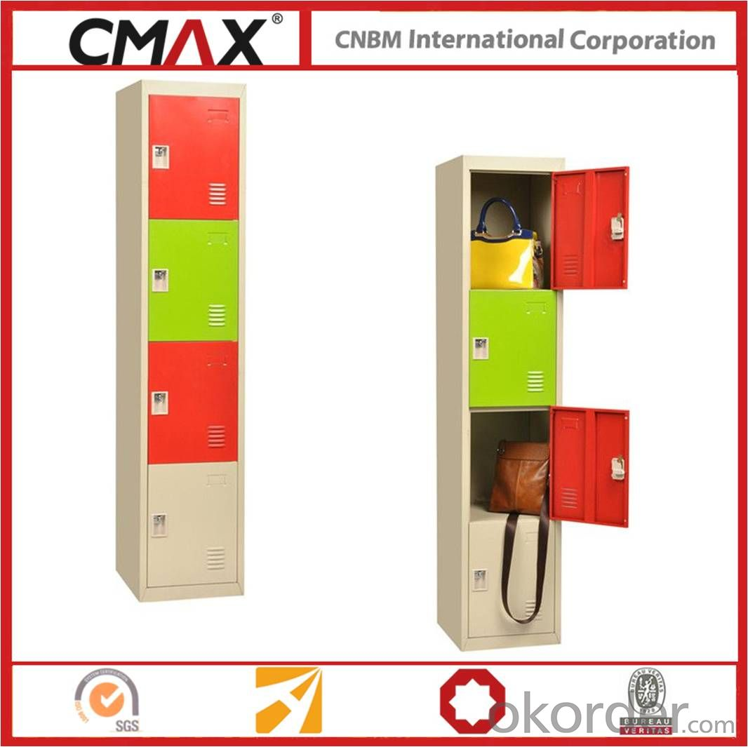 Steel Locker 4 Door Steel Furniture for good Storage CMAX-1C-4T