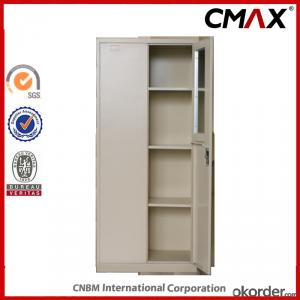 Swing Door Office Filing Cupboard with Mirror inside