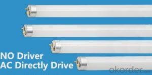 LED T8 Tube 10W 600mm glass tube AC drive