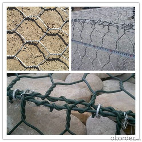 PVC Coated Gabion Basket/Gabions Basket in Size 2X1X1m