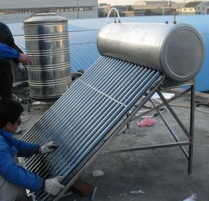 Solar Powered Water Heater with Auto Water Supply Tank