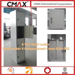 4 Tier Steel Locker Steel Locker 4 Compartment Cmax-SL04-001