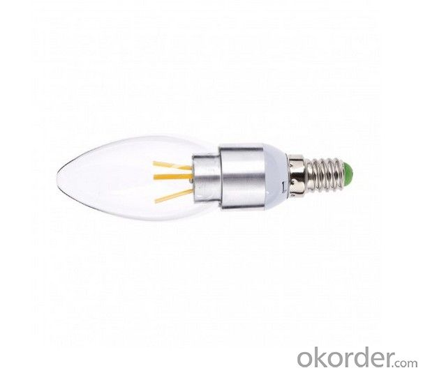 LED FILAMENT CANDLE LAMP BULB DIMMABLE 4W NEW DEVELOPMENT