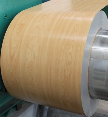 Aluminium Color Coated Coils For New Design Wood Marble