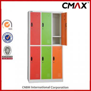 Steel Multi-doors Locker School Colorful Locker 6 Doors Gym Locker Metal Cabinet