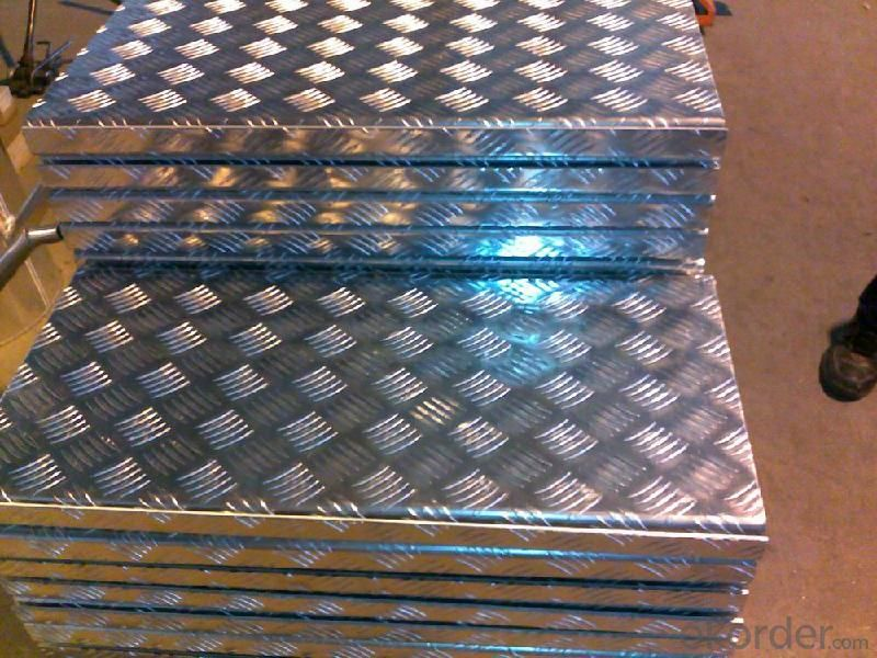 Aluminum Flooring Anti-slip Checker Embossed Sheet Plate